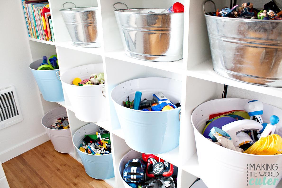 20+ Mejores Ideas de Almacenamiento de Juguetes que los Niños Amarán