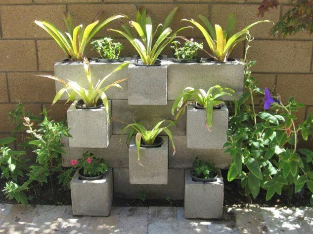 15+ Proyectos Decorativos con Bloques de Cemento