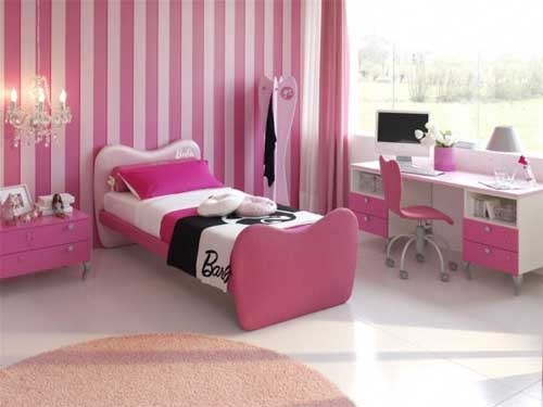 Cute Pink Girls Room Design
