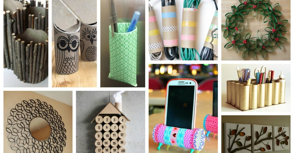 20 manualidades impresionantes con rollos de papel higi nico - Rollos de papel higienico decorados ...