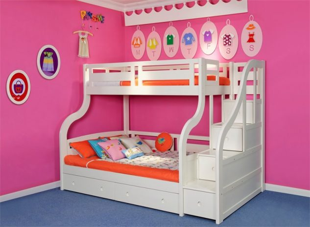 Beds with drawers classic white single bed for kids by for Cuartos para ninos modernos
