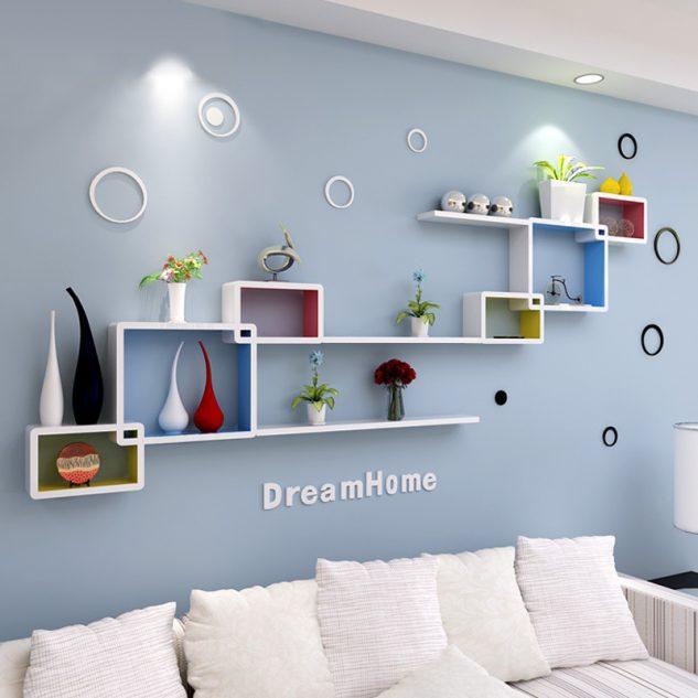 15 ideas sencillas para decorar con estanter as originales - Estantes de pared originales ...