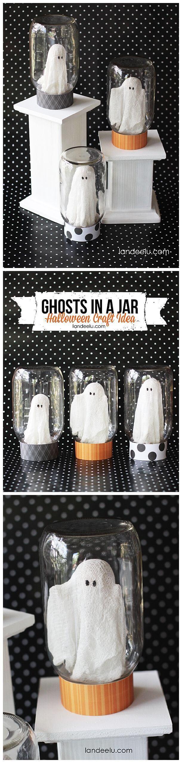 20+ Ideas de Manualidades para Halloween con Tarros de Cristal