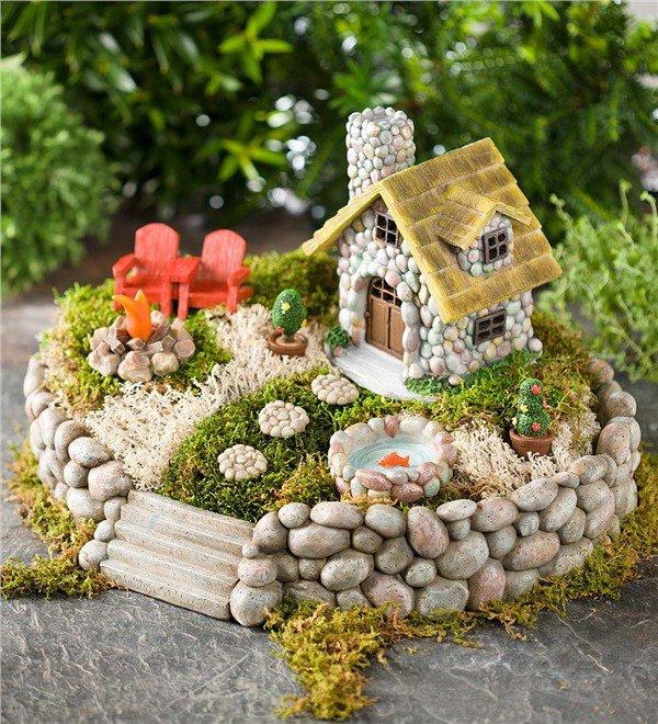 15 casas de piedra en miniatura para hacer su jard n - Hacer pared de piedra ...