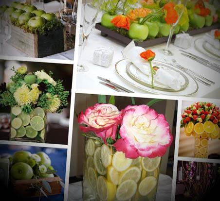 Centros de mesa para las bodas for Centros de frutas