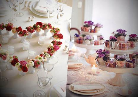 Centros de mesa para las bodas