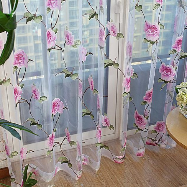 15+ Fascinantes Cortinas Florales