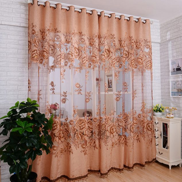 15 fascinantes cortinas florales for Tende amazon