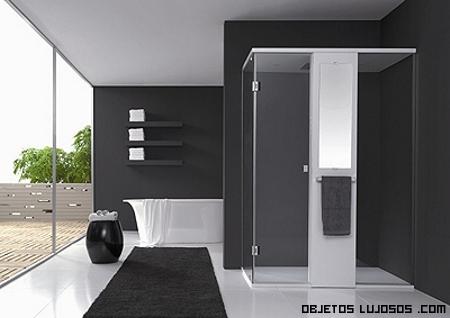 cuarto de bano tonos oscuros