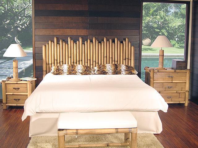 13 fant sticas decoraciones de bamb para tu hogar - Cabecero de bambu ...