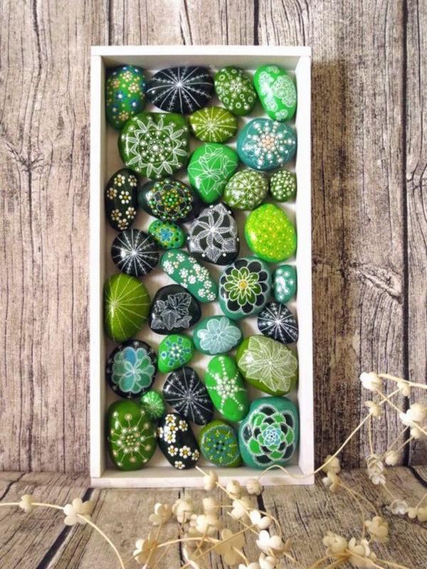 15+ Bonitas y Sencillas Ideas para Decorar con Guijarros y Rocas