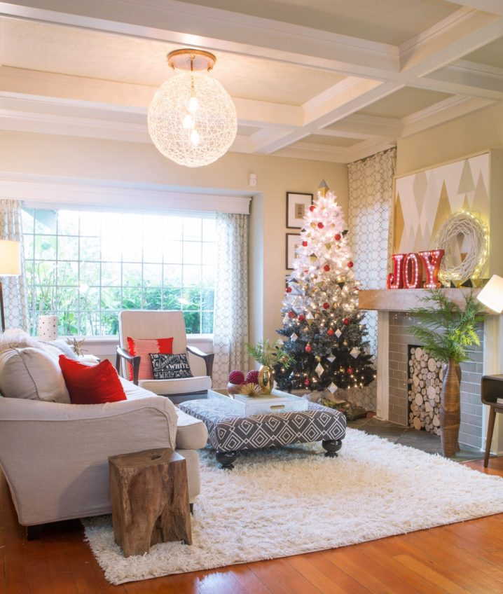 15 estupendas ideas para decorar tu sal n estas navidades for Ideas para decorar tu salon