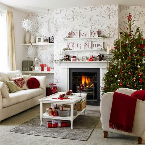 15 estupendas ideas para decorar tu sal n estas navidades - Ideas decoracion salon ...
