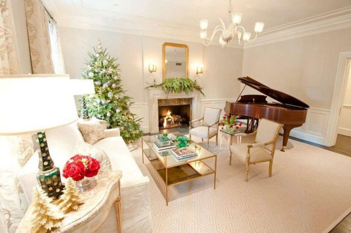 15 Estupendas Ideas Para Decorar Tu Salon Estas Navidades - Como-decorar-un-salon-para-navidad