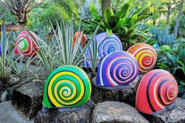 20 hermosas ideas para decorar tu jardn con piedras - Decorar Un Jardin