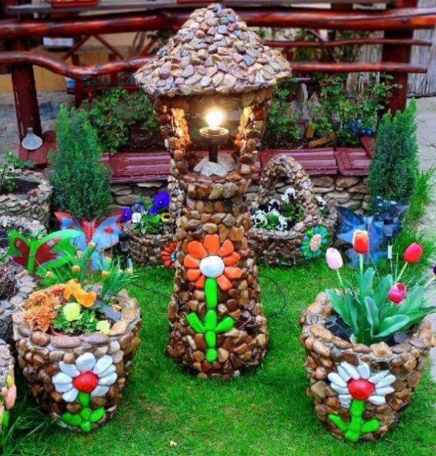 20 hermosas ideas para decorar tu jard n con piedras for Como decorar un jardin con plantas