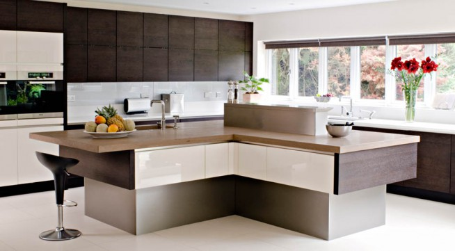 Impresionantes y Frescas Ideas de Diseño de la Isla de Cocina