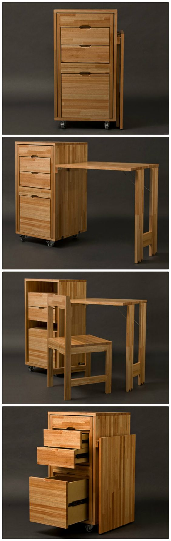 Estupendos y funcionales dise os de muebles para espacios - Muebles practicos para espacios pequenos ...