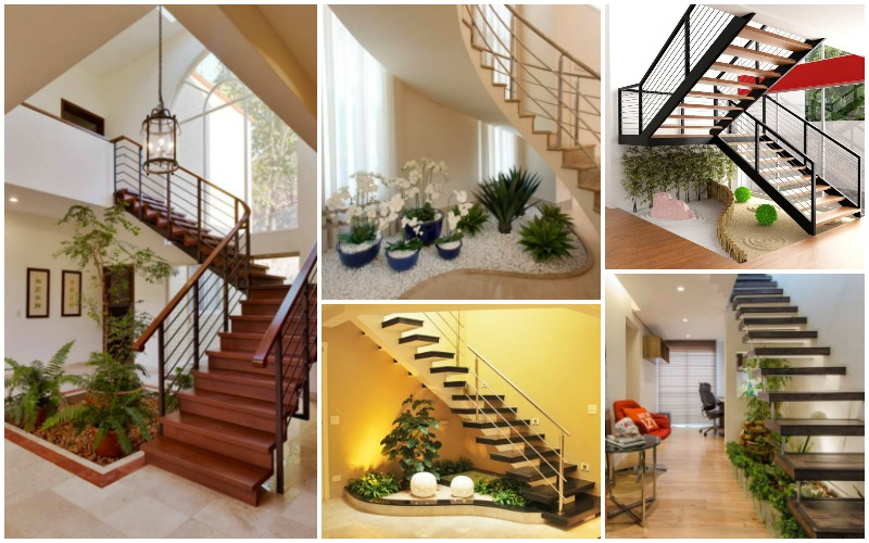 20 ideas extraordinarias decorar bajo la escalera con for Escalera de jardin de madera