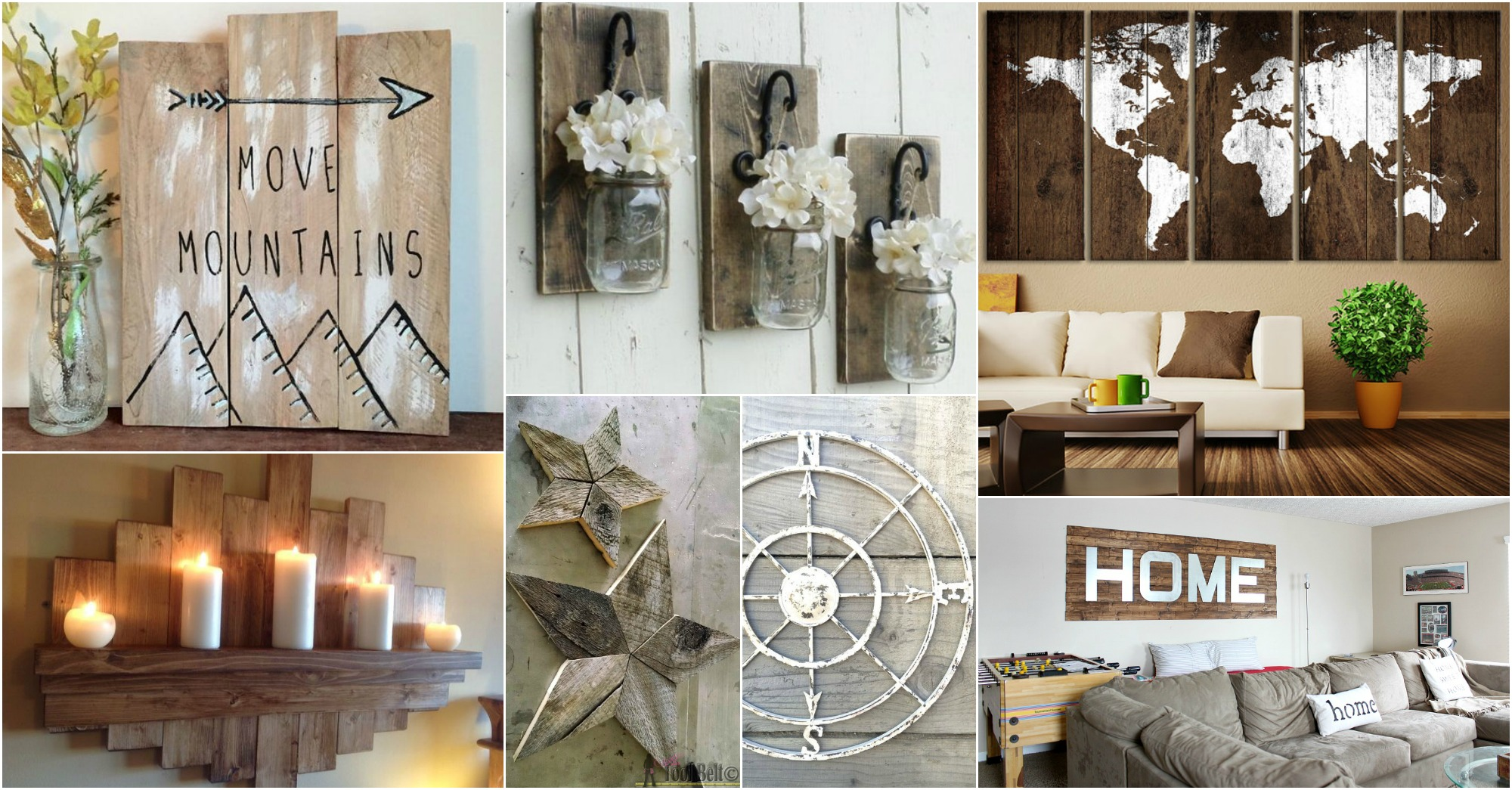 15 impresionantes ideas para decorar una pared rustica - Decorar una pared ...