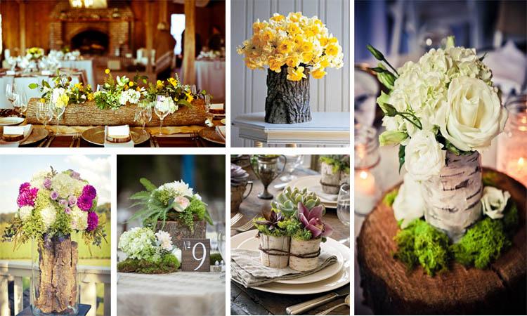 20 maravillosos jarrones decorativos con toc n de rbol - Jarrones decorativos para jardin ...