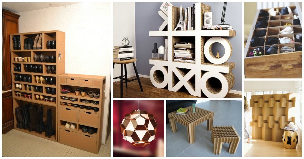 10 ideas originales y divertidas para decorar con muebles - Carton para muebles ...