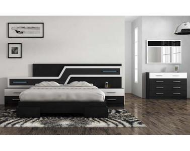 Dormitorio blanco y negro - Dormitorio en blanco y negro ...