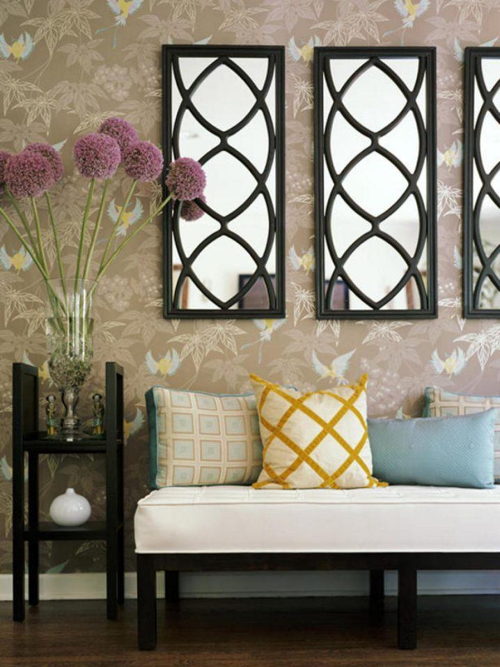 15+ Decoraciones Impresionantes de la Pared con Espejos