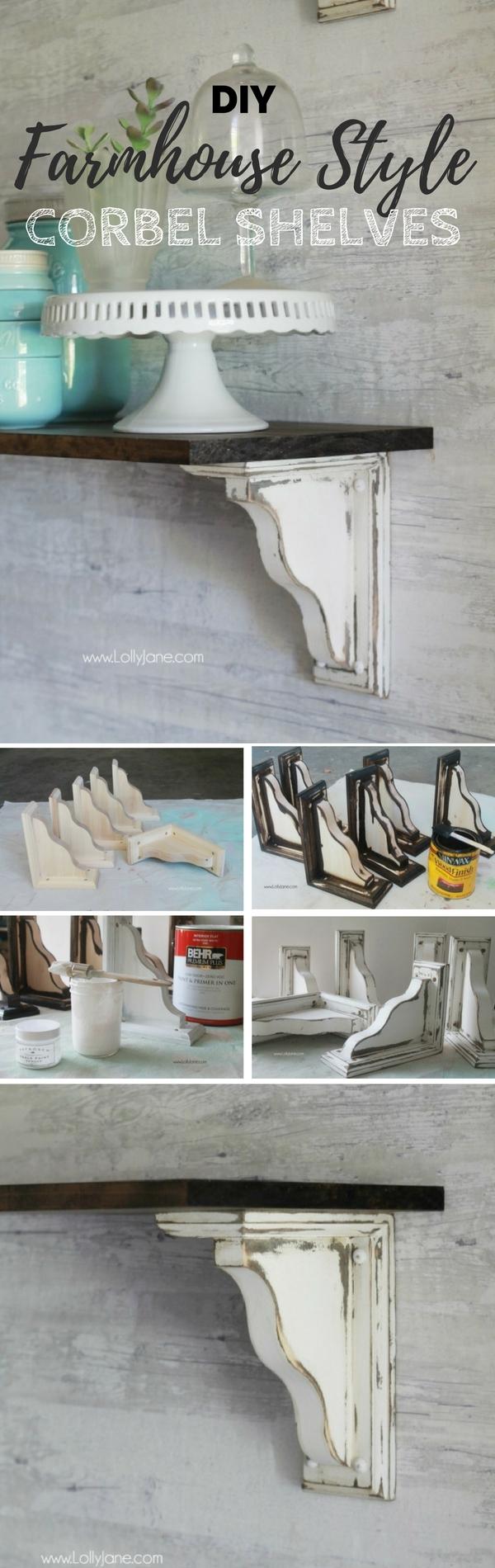 15+ Estupendas Estanterias DIY para Embellecer tu Casa