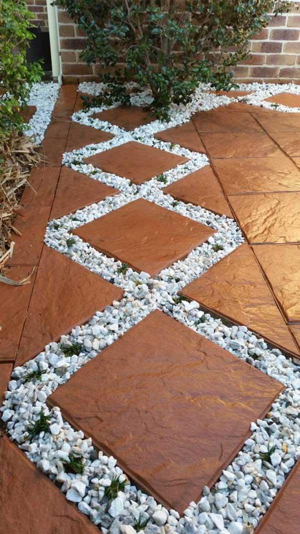 25+ Preciosas Ideas Decorativas de Grava Blanca