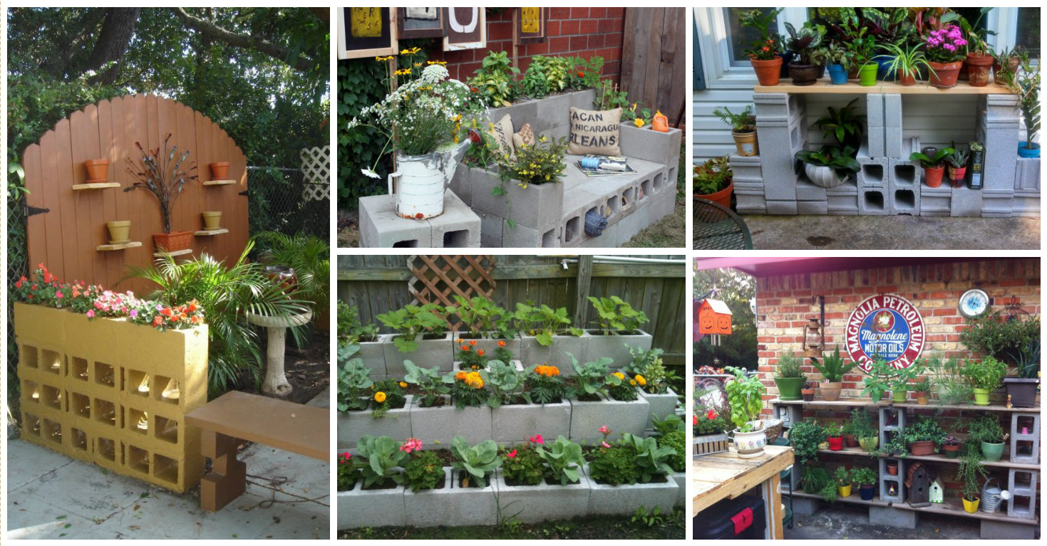 15 proyectos decorativos con bloques de cemento for Bloques de cemento para jardin