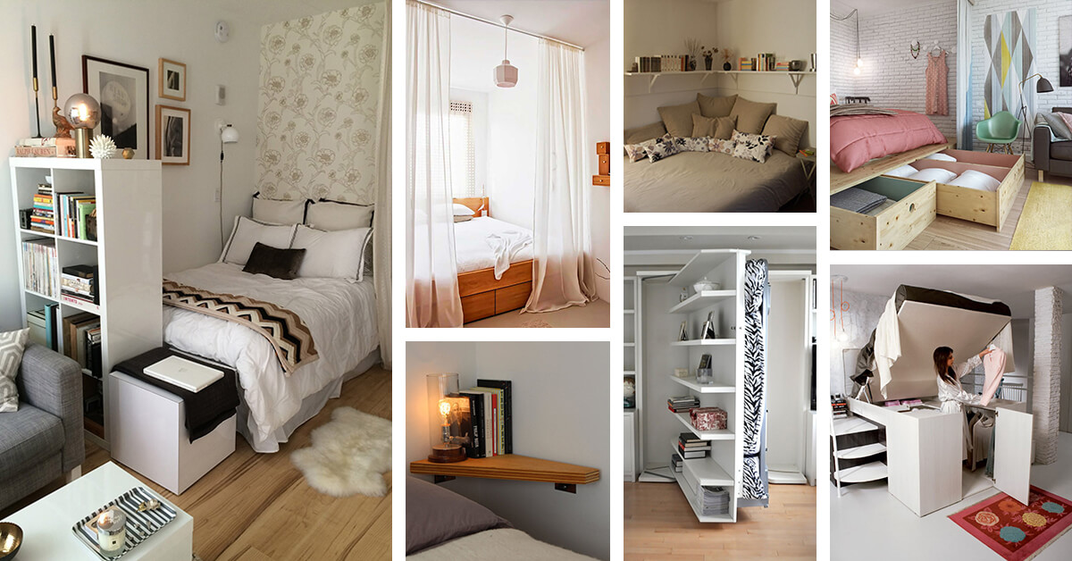 20 ideas fenomenales para ahorrar espacio en habitaciones - Amueblar habitacion pequena ...