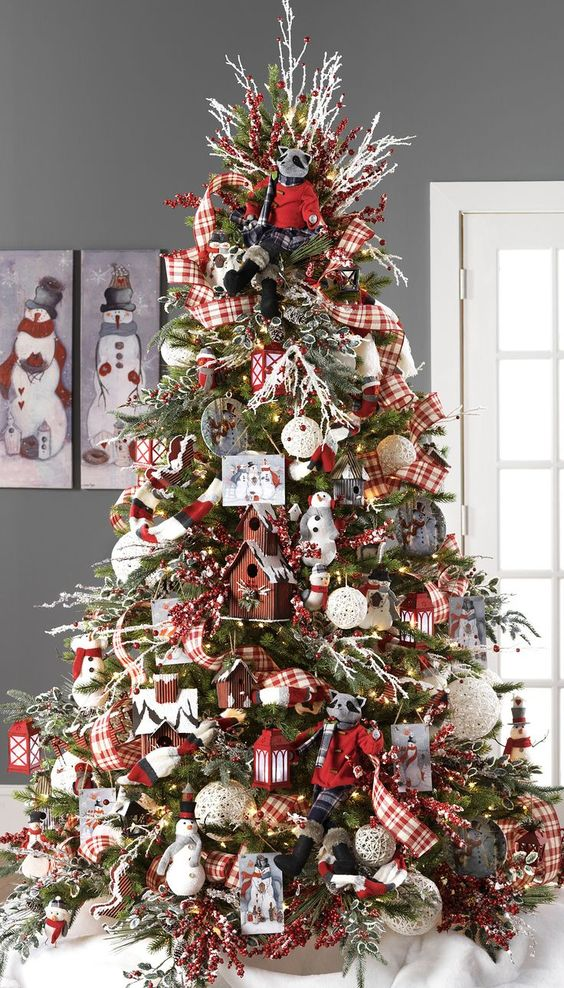ideas preciosas para decorar arbol de navidad