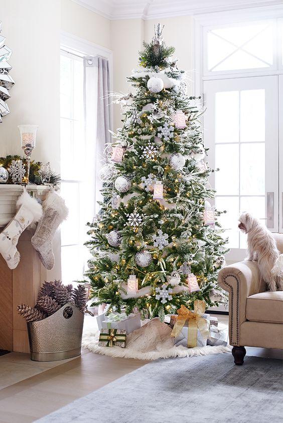 15+ Ideas Preciosas para Decorar Arbol de Navidad