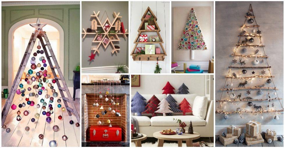 12+ Ideas Originales Árboles de Navidad con Estanterías