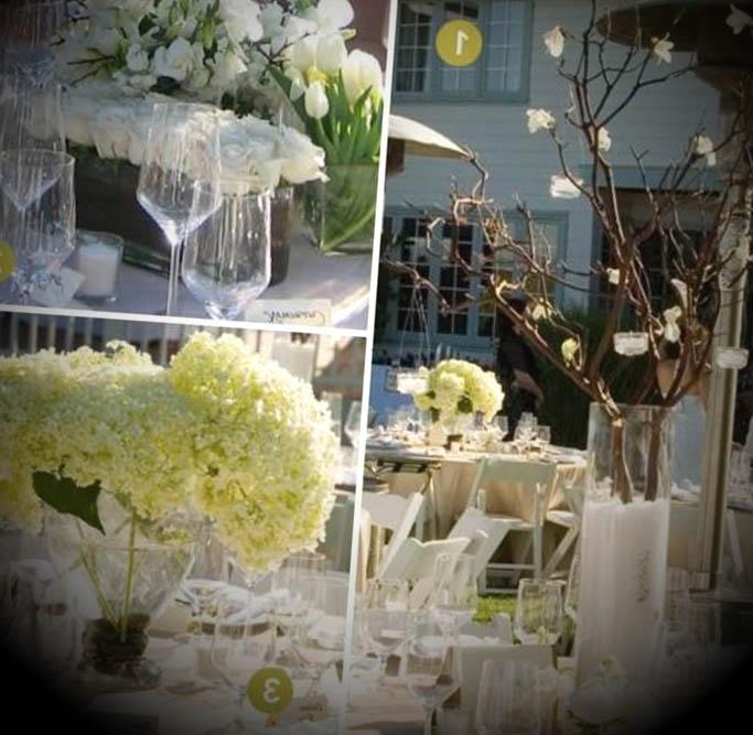 centros de mesa para las bodas ForArreglos De Mesa Para Boda En Jardin