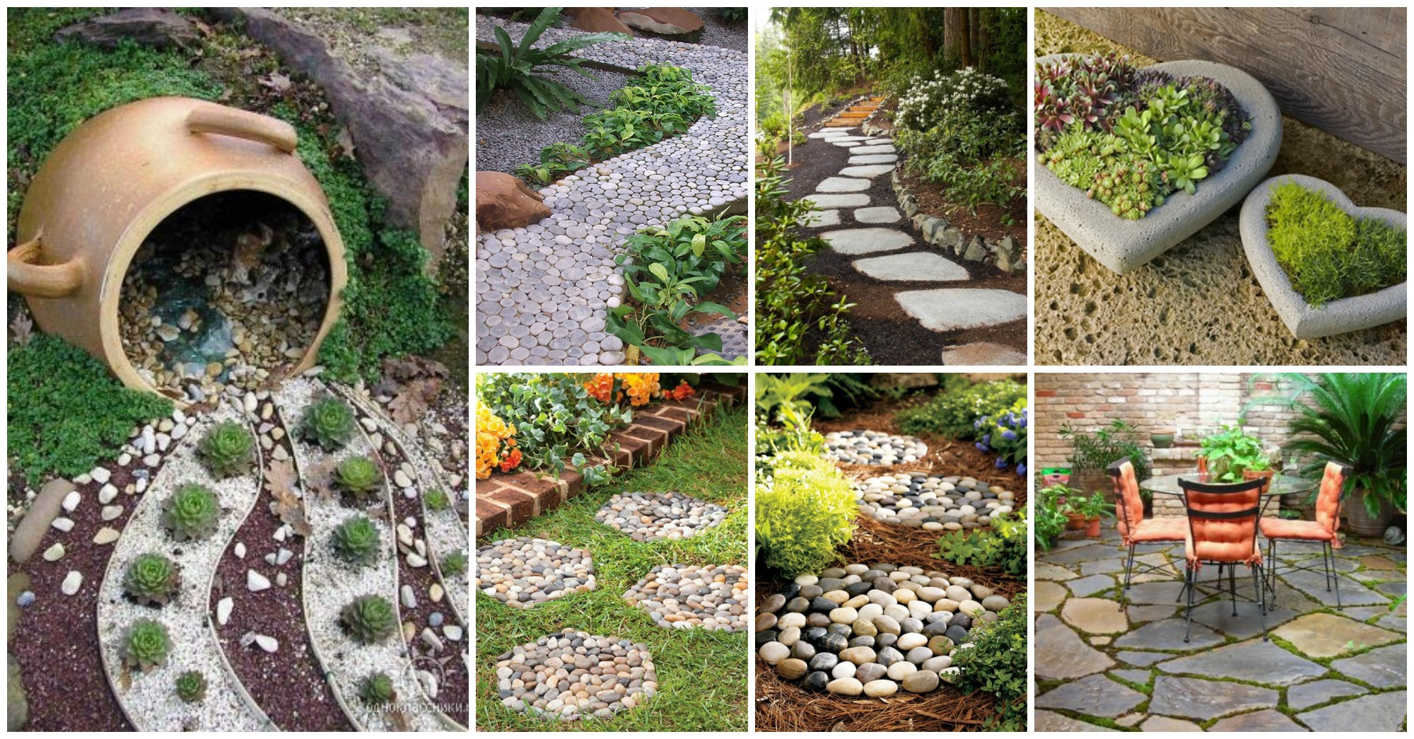 15 sorprendentes ideas para decoraci n de jard n con piedras for Ideas decoracion jardines exteriores