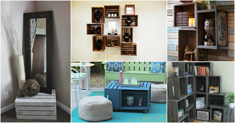 15+ Ideas Creativas para Decorar con Cajas Madera