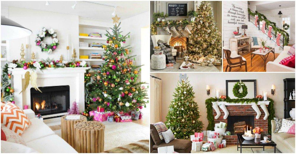 15 estupendas ideas para decorar tu sal n estas navidades - Ideas decorar salon ...
