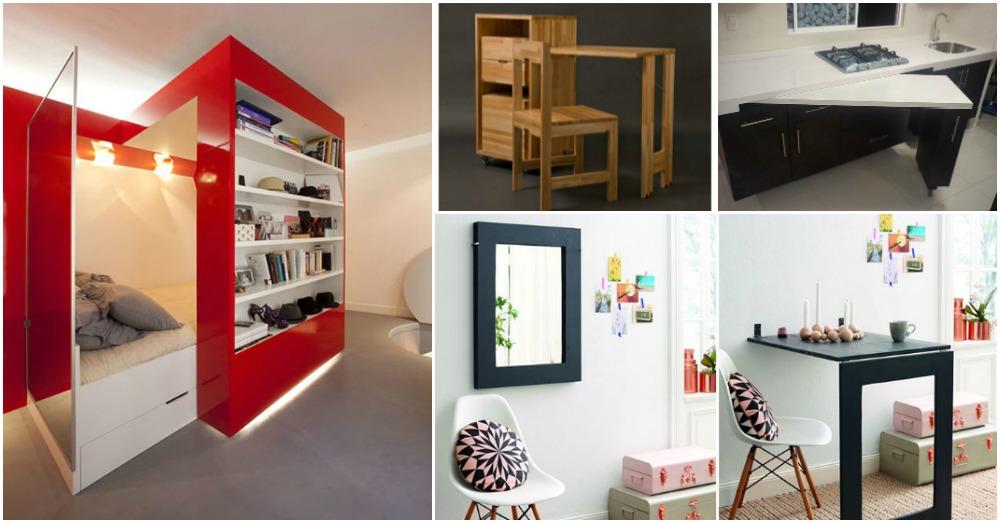 Estupendos y funcionales dise os de muebles para espacios for Muebles de sala espacios pequenos