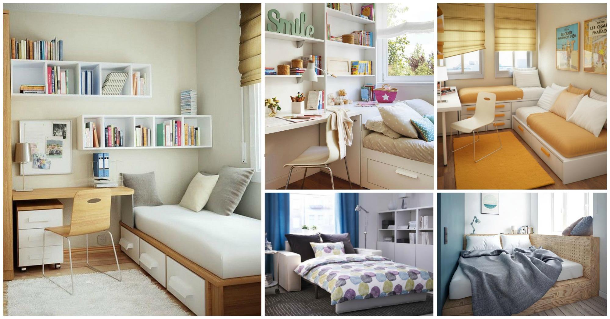 15 grandes ideas para dormitorios peque os muy acogedores for Ideas para decorar cuarto de jovenes
