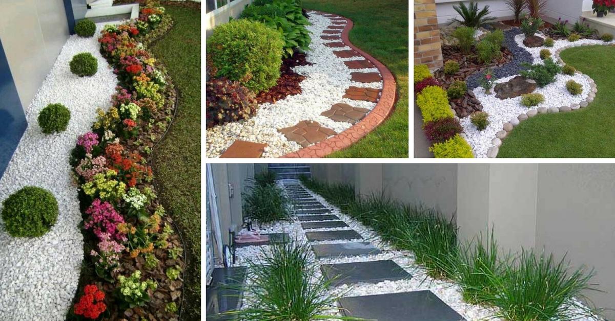 25 preciosas ideas decorativas de grava blanca - Grava para jardin precio ...