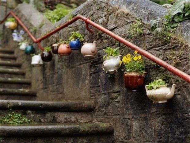 15+ Impressionantes Ideas de Reciclaje y Manualidades para el Jardín