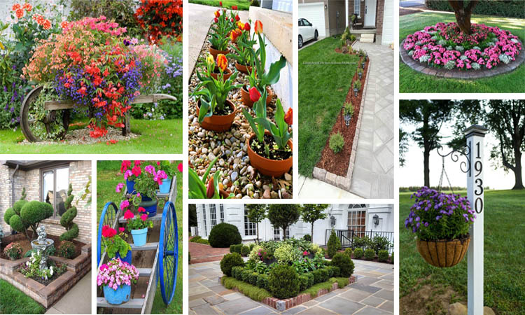25 preciosas ideas para el jard n en la entrada de tu casa for Ideas para el jardin reciclando