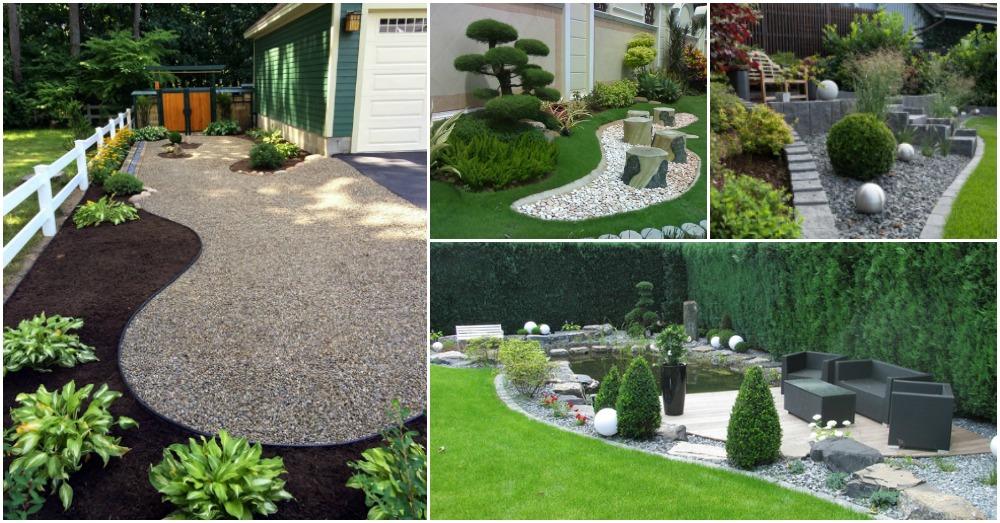 20 exelentes y relajantes jardines zen. Black Bedroom Furniture Sets. Home Design Ideas