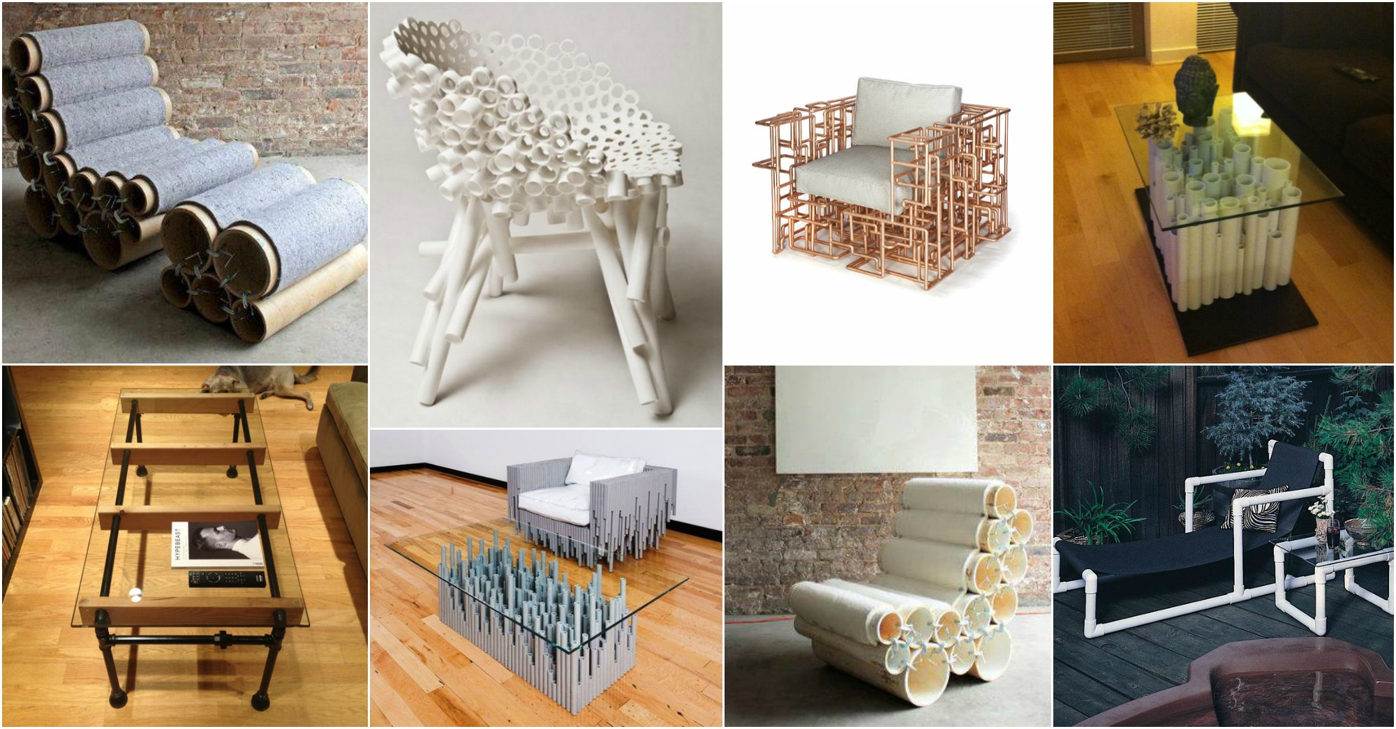 15 ideas de muebles con tuberia pvc que te fascinan for Ideas de muebles