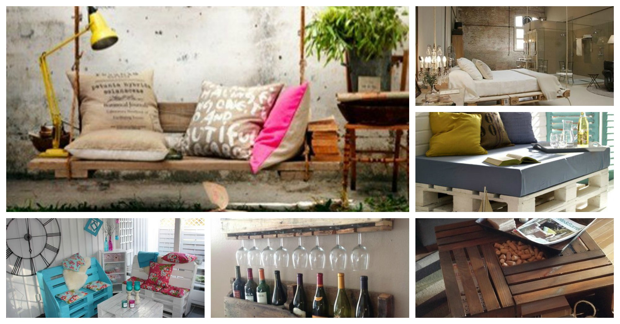 20 ideas creativas para reciclar palets de madera - Ideas para reciclar unos palets ...