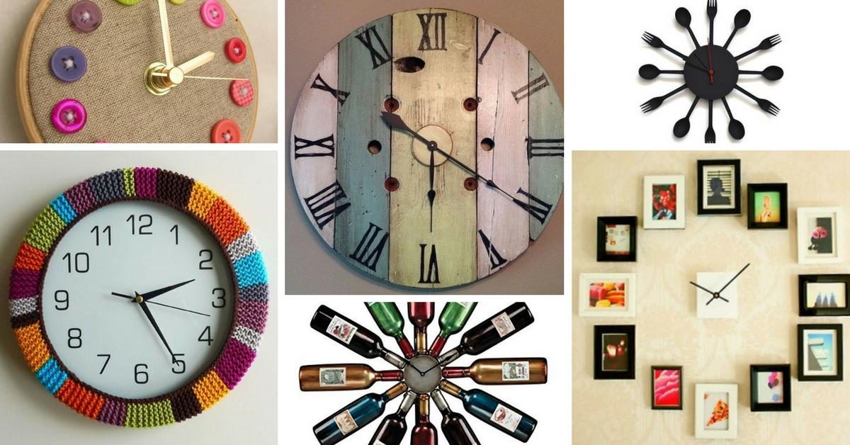 Reciclado Pared De Con Material Diy Relojes nwONv80m