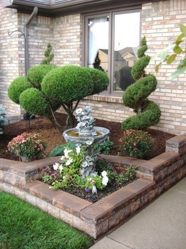 25 preciosas ideas para el jard n en la entrada de tu casa - Ideas para el jardin ...