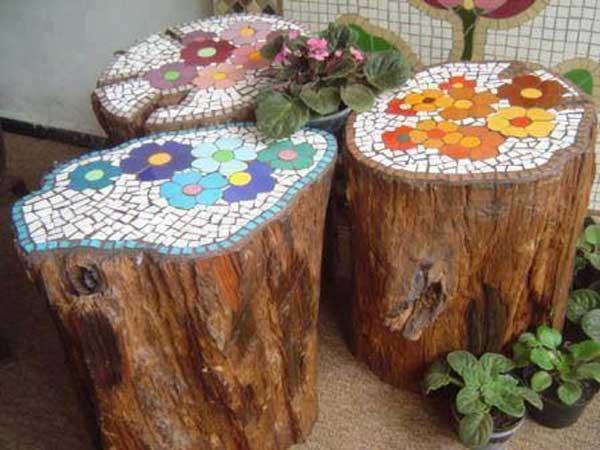 15+ Sorprendentes Ideas Decoración de Jardines con Mosaicos